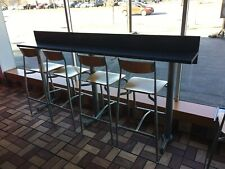 8 Ft Portable Raised Granite Counter With 5 Bar Stools, Beautiful!