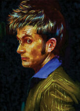 More details for david tennant dr who artwork limited edition #2 of 50 canvas handpainted rare