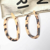 Irregular Acrylic Earrings Tortoise Shell Resin Hoop Earring Fashion Jewelry