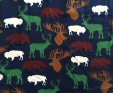 "Wilderness Allover Blue Blizzard Fleece Fabric - 1.3 yards x 59"""