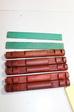 """Lot Rare HTF pieces Wooden Lincoln Logs 6"""" long round 4 knotch to build a cabin"""