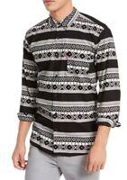 Levi's Mens Casual Shirt Black Size Large L Button Down Tribal Pocket $54 #396