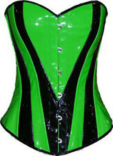 Neon Green Heart over bust corset Steel Rave Party Fancy Costume Halloween USA