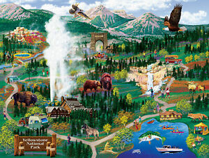 YELLOWSTONE ADVENTURES by JOSEPH BURGESS - SunsOut 500 piece puzzle  - NEW