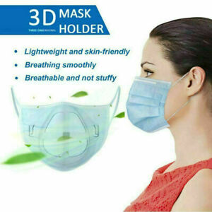 10x 3D Face Mask Inner Support Frame Silicone Mouth Mask Bracket Reusable Holder