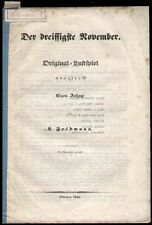 Theater  Leopold  Feldmann  Der dreissigste November  München 1846