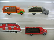 n190-0, 5 #3X Wiking H0 Magirus-Deutz Truck: frucht-limonade, WiMo SIP,