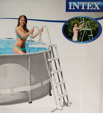 Intex Poolleiter 122 - 132 cm Pool Poolsicherheitsleiter Leiter Badeleiter , (N)