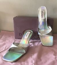 NEW - Ladies Beautiful  - Silver - Satin Sandals  - Size Uk 5.5   By Dyeables.