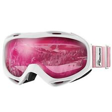 Outdoor Sport Men Women Winter Snow Ski OTG UV Protection Glasses Goggle Fuschia