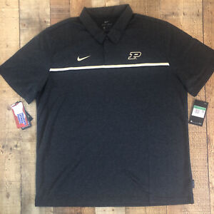 Nike Dri Fit Purdue Boilermakers Polo Size XL On Field Coaches Team Polo Shirt