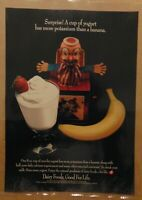 America's DAIRY FARMERS Yogurt Banana Jack In Box Print Ad PROMO Advertisement