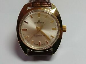 Gents Continental Watch.- Model T1349A - EB8800 Movement. c1970. NOS (JC189)