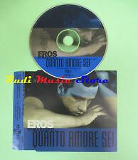 CD singolo EROS RAMAZZOTTI quanto amore sei PROMO 1997 BMG no mc vhs dvd(S18)