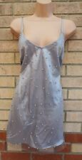 FOREVER 21 GREY SILVER METALLIC TULLE PEARL BEADED PARTY CAMI SLIP DRESS TOP 12