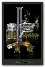 WEED PARTY POSTER - 24x36 MARIJUANA POT SMOKING FUNNY 6708