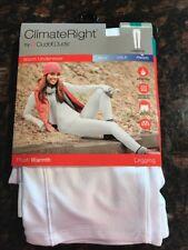 Cuddl Duds Climate Right Stretch Microfiber Frigid Leggings White Size XL