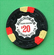 OLD VINTAGE 1977 CALIF CARD ROOM CHIP - $20.00 ROUNDERS C/R - SACRAMENTO CA