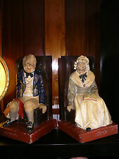 Antique DARBBY&JOAN Bookends G.L.London Limited #97