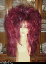 **EMPRESS BIANCA WIG FUN DRAG QUEEN STRAIGHT LONG PLUMB