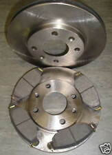 PEUGEOT 206 FRONT VENTED BRAKE DISCS AND PADS 1.4 (8V) 1.6 (8V) 1.4HDI 2000 ON>>
