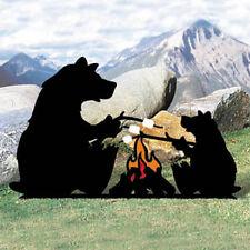 *NEW* Lawn Art Yard Shadow/Silhouette -  Campfire Bears