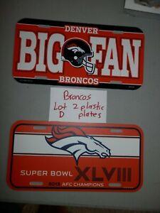 Denver Broncos License plate Lot (2) new vtg Super Bowl XXXII NFL Big Fan Lot D