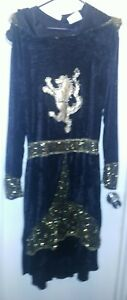 Spirit Halloween  Costume Black Wizard Hooded Long Robe Adult size XL