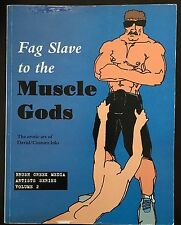 (REDUCED) $175 F** Slave to the Muscle Gods: GAY Erotic Art David MUSCLE WORSHIP