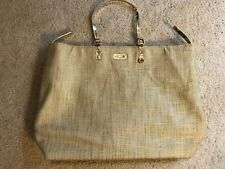 NEW VERSACE PARFUMS GOLD TOTE WEEKENDER SHOPPER  BEACH BAG X Large