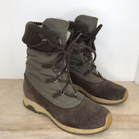 Tecnica Size 7, EU 38 Women's Leather Lace Up Winter Boots Lined Brown