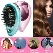 Portable Electric Portable Ionic Hair Brush Comb Mini Ion Massage Straightener