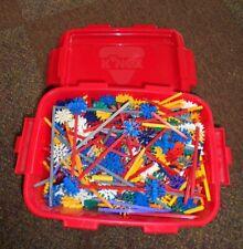 7+ Pounds Original K'nex Building Pieces Parts - Large Lot in Tub 400+ More!