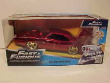 Fast and Furious 1969 Dodge Charger Daytona Die-cast Car 1:24 Jada 8 inch Wine 7