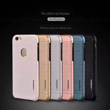 Ultra fin Motomo - Aluminium brossé Luxury Coque Rigide pour tous iPhone 7G 7P