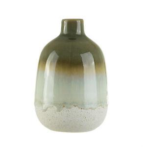 SASS & BELLE Green Vase Mojave green Glaze