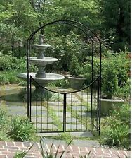 Wedding Arbor Garden with Gate Arch Archway Gateway Ivy Trellis 7' Vine Patio