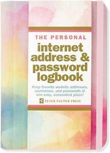 Password Book Watercolor Internet Website Username Keeper Spiral Bound Logbook