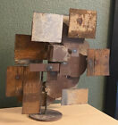 Brutalist Artist Made Welded Abstract Metal Sculpture Frank Cota Signed