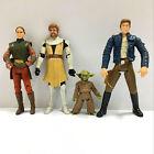 "4pcs Star Wars Padme Amidala, Obi-Wan Kenobi, Yoda, HAN SOLO 3.75"" figure Toy"