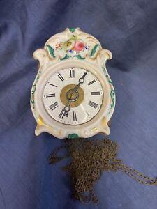 Jockele Uhr Wecker Schlagwerk Schwarzwalduhr Holzplatinwerk Antik Sorguhr Uhr