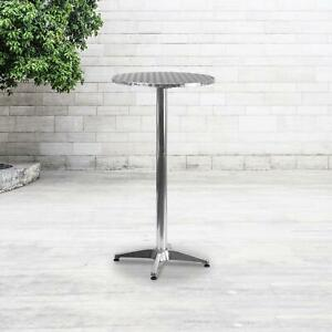 Dining Table Bar Height Pub Round Tall Folding Indoor Outdoor Patio Metal Party