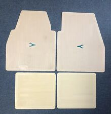 1955-1962 Plymouth Dodge DeSoto Chrysler Imperial Floor Mats Set IVORY W/GREEN