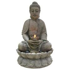 Fountain LED Lights Buddha Design 2 Tier Outdoor Home Yard Garden Decoration