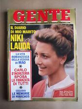 GENTE n°39 1976 Il dramma di Niki LAUDA - La vita Mao Tze Tung  [G685B]