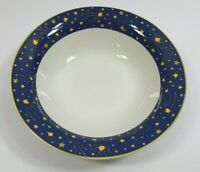 Cesetrail Galaxy Stars Bowl 1993 Vitromaster Cereal Soup Blue Trim No Chips