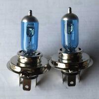 2 x 100/90W 12V Super Xenon H4 White Halogen Motorbike Car Front Headlight Bulbs