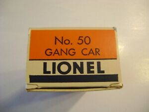 Lionel No.50 Gang Car Classic Style Orange & Blue Licensed  Box