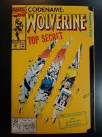 WOLVERINE #50 VF/NM First Print Die Cut Marvel Comic Book X-Men TOP SECRET