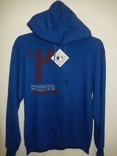 "9601-125 Mens PHILADELPHIA PHILLIES ""Majestic"" Hooded Jersey Sweatshirt New BLUE"